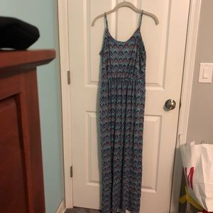 Nordstrom blue and purple maxi dress